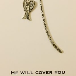 Cover you with His Wings: Bookmark