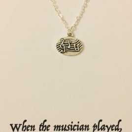 The Hand of the Lord upon the Musician: 20″ Silver Plated Chain