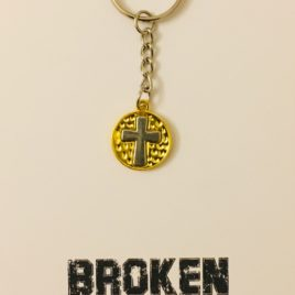 Broken Become Blessed: Steel Keyring