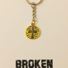 Broken Become Blessed: Steel Keyring