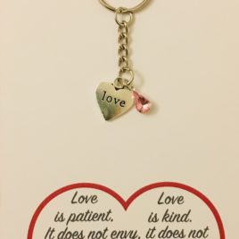 Love is Patient: Steel Keyring
