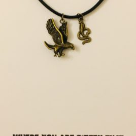 Eagle & Snake, Bitter Authority: 20″ Waxed Cotton Necklace