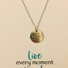 Live, Laugh, Love: 20″ Stainless Steel Chain