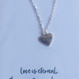Love is Eternal: 20″ Silver-plated Chain