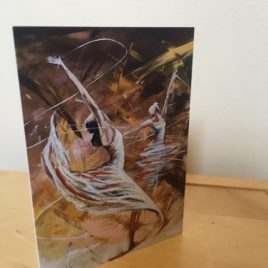 Humanity Dances Before a King (Single Greeting Card)