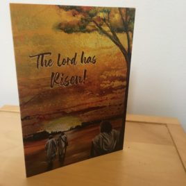 Emmaus Road the Lord has Risen (Greeting Card x3)