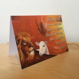 Lion and Lamb (Greeting Cards x3)