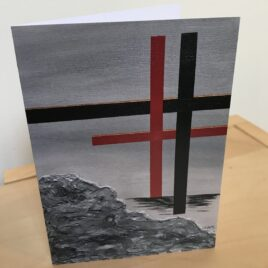 Shadow of the Cross (Single Greeting Card)
