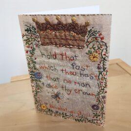 Rev 3:11 (Single Greeting Card)