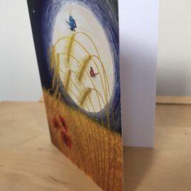 Harvest Moon (Single Greeting Card)