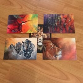 5 African Animal Cards (Variety pack)